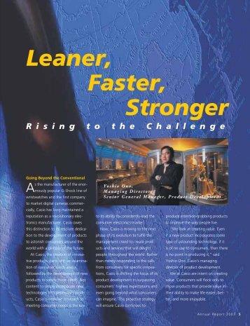Leaner Faster Stronger