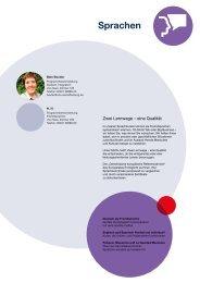 Webmagazin Sprachen vhs AB Herbst 2015: Sprachen