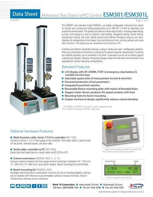 Mark-10 EF020 Load Holding for Test Stands