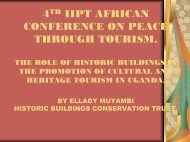 4 IIPT AFRICAN CONFERENCE ON PEACE THROUGH TOURISM