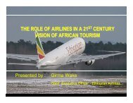 THE ROLE OF AIRLINES IN A 21 CENTURY VISION OF AFRICAN TOURISM