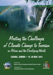 Meeting the Challenges of Climate Change toTourism