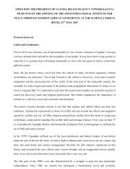 speech by the president of uganda his excellency yoweri kaguta - IIPT