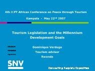 Tourism Legislation and the Millennium Development Goals