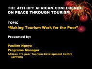 Who is African Pro-poor Tourism Development Centre (APTDC)?