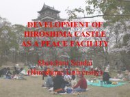 a. Development of Hiroshima Castle as peace facility - IIPT
