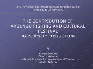 THE CONTRIBUTION OF ARGUNGU FISHING AND CULTURAL FESTIVAL TO POVERTY REDUCTION