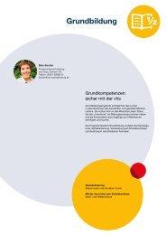 Webmagazin vhs AB Herbst 2015: Grundbildung