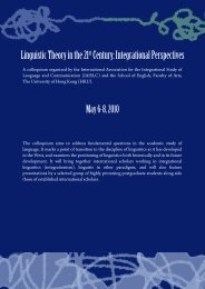 Linguistic Theory in the 21 Century Integrational Perspectives