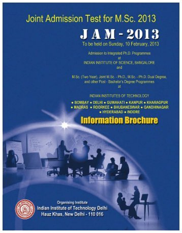 JAM 2013 IB Inside Page.pmd - GATE Office, IIT Delhi - Indian ...