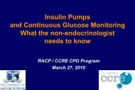 Insulin Pumps and Continous Glucose Monitoring ... - Diabetes CCRE