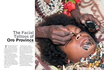 The Facial Tattoos of Oro Province