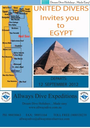 UNITED DIVERS Invites you to EGYPT