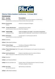 PAvCon Police Aviation Conference ‐ 5‐6 June 2012