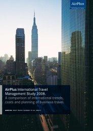 AirPlus International Travel Management Study 2008. A comparison ...