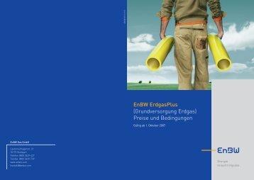 EnBW ErdgasPlus (Grundversorgung Erdgas) Preise und ...