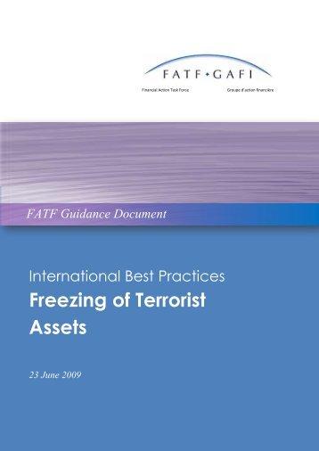 Freezing of Terrorist Assets