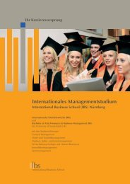 Internationales Managementstudium - ESO