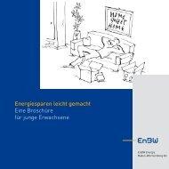 Energiesparen leicht gemacht Eine Broschüre für junge ... - EnBW