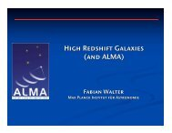 High Redshift Galaxies (and ALMA) - ESO