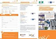 energieeffizienz in unternehmen - Effizienznetz Rheinland-Pfalz