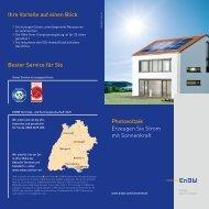 Photovoltaik Erzeugen Sie Strom mit Sonnenkraft Ihre ... - EnBW