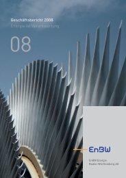 Geschäftsbericht 2008 Energie ist Verantwortung Ku - EnBW