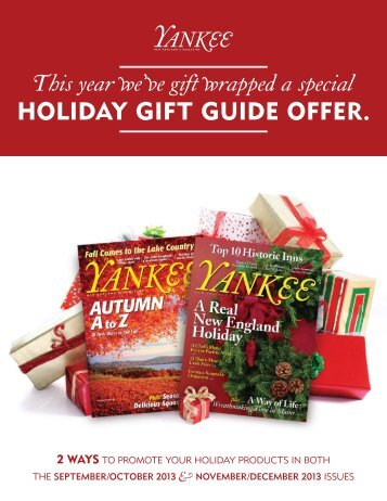 HOLIDAY GIFT GUIDE OFFER