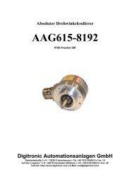 Absoluter Drehwinkelcodierer AAG615-8192 - Digitronic  GmbH