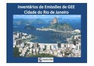 Cidade do Rio de Janeiro – inventários Centro Clima/COPPE