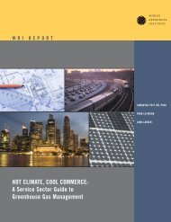 HOT CLIMATE COOL COMMERCE A Service Sector Guide to Greenhouse Gas Management