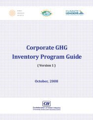 Corporate GHG Inventory Program Guide Corporate GHG Inventory Program Guide