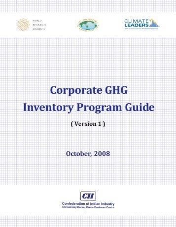Corporate GHG Inventory Program Guide Corporate GHG Inventory Program Guide