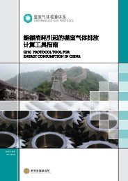 GHG Protocol Tool for Energy Consumption in China