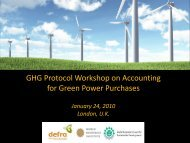 for Green Power Purchases