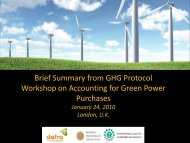 Workshop on Accounting for Green Power Purchases