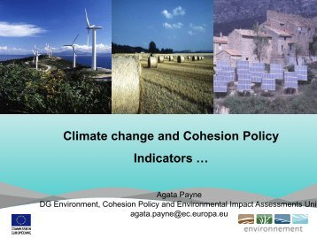 Climate change and Cohesion Policy Indicators …