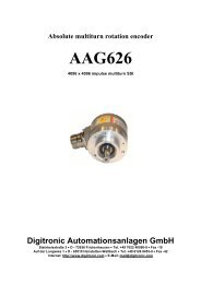 Absolute multiturn rotation encoder AAG626 - Digitronic GmbH