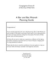 A Bar and Bat Mitzvah Planning Guide