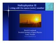 Heliophysics III