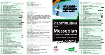 Messeplan 22.09.2012 | 9 –16 Uhr | Eintritt frei - Stuzubi