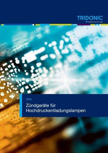 Zündgeräte für Hochdruckentladungslampen - Tridonic GmbH & Co ...