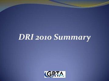 DRI 2010 Summary