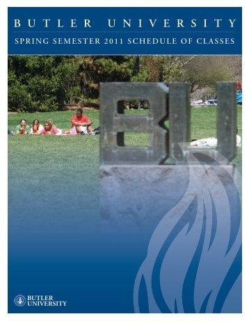 Schedule of Classes - Butler University