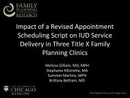 Impact of a Revised Appointment Scheduling Script on IUD Service ...