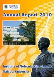 Untitled - Institute of Molecular Biosciences, Mahidol University