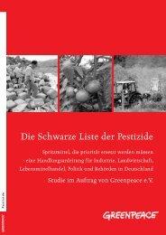 Die Schwarze Liste der Pestizide - Greenpeace