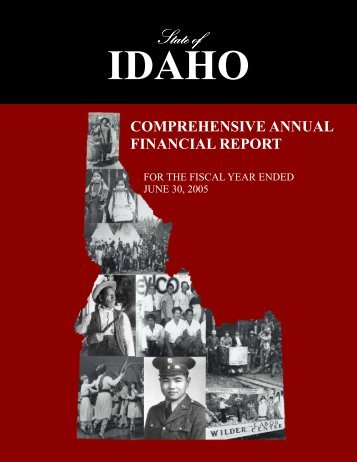 2005 Comprehensive Annual Financial Report - Office of the State ...