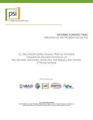 Estudio TRaC de VIH/SIDA Trabajadoras Sexuales ... - PASCA