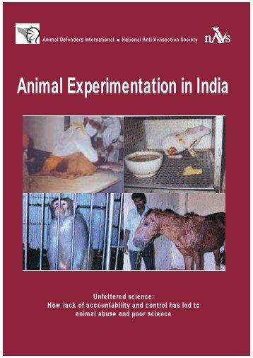 Animal Experimentation in India - NAVS: National Anti-Vivisection ...